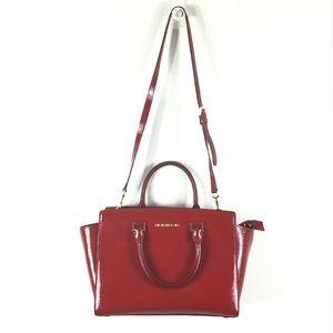 Michael Kors Red Patent Leather Satchel